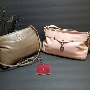 Lot of 2 ETIENNE AIGNER Leather Purse